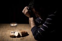 Het vasten voor brood en water royalty-vrije stock foto's