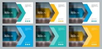Het vastgestelde abstracte achtergrondmalplaatjeontwerp voor sociale media post en het concept van Webbanners stock illustratie