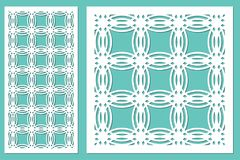 Het vastgestelde decoratieve knipsel van de paneellaser Houten paneel Modern elegant geometrisch cirkelpatroon Verhouding 1:2, 1: Stock Afbeeldingen