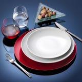 Het vastgestelde diner van de lijst royalty-vrije stock fotografie