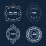 Het vastgestelde malplaatje van Luxeemblemen bloeit kalligrafisch Royalty-vrije Stock Afbeelding