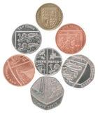 Het vastgestelde muntstuk van Engeland royalty-vrije stock afbeelding