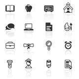 Het vastgestelde onderwijs van het pictogram Stock Foto's