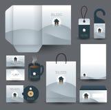 Het vastgestelde ontwerp van de kantoorbehoeften Royalty-vrije Stock Afbeeldingen