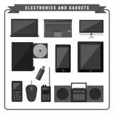 Het Vastgestelde Ontwerp van het elektronische en Gadgetspakket Royalty-vrije Stock Fotografie