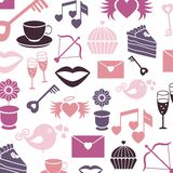 Het vastgestelde patroon van de valentijnskaartendag, vectortekens Royalty-vrije Stock Fotografie