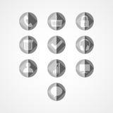 Het vastgestelde pictogram van het conceptenweb Royalty-vrije Stock Afbeeldingen