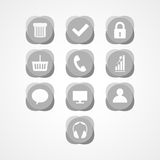 Het vastgestelde pictogram van het conceptenweb Stock Afbeelding