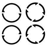 Het vastgestelde tekenherladen verfrist pictogram, die pijlen in een cirkel, vectorsymboolsynchronisatie, vernieuwbare crypto mun royalty-vrije illustratie