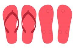 Het vastgestelde vectorontwerp van de pantoffelszomer Royalty-vrije Stock Fotografie