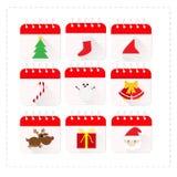 Het Vastgestelde Vectorontwerp van het Kerstmispictogram stock illustratie
