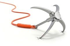 Het vastgrijpen van haak met oranje kabel Royalty-vrije Stock Afbeelding