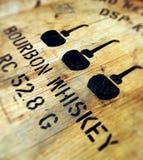 Het vat van de bourbon Stock Afbeelding