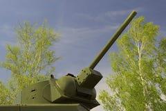 Het vat van de tank op de hemel Royalty-vrije Stock Afbeeldingen