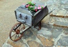 Het Vat van het bloemwiel Royalty-vrije Stock Foto
