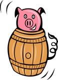 Het vat van het het varkensvarkensvlees van het beeldverhaal Stock Fotografie