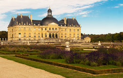 Het vaux-le-Vicomte kasteel, Frankrijk Stock Foto