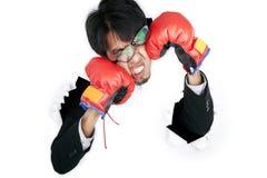 Het vechten tegen zich Stock Fotografie