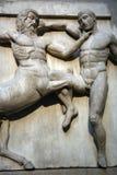 Het vechten van beeldhouwwerken Royalty-vrije Stock Foto's