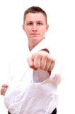 Het vechten van de karate houding Royalty-vrije Stock Fotografie