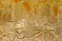 Het Vechten van Hanuman Leeuwen, de Tempel van Angkor Wat Royalty-vrije Stock Afbeelding