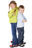 Het vechten van kinderen Stock Afbeelding
