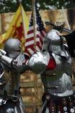 Het Vechten van ridders Stock Foto
