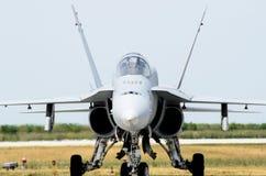 Het vechtersvliegtuig van de lucht van Cleveland toont royalty-vrije stock afbeeldingen