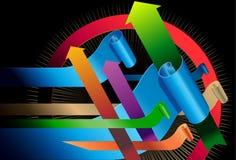 Het vector 3d Element van Pijlen Stock Afbeelding