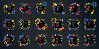 Het vector abstracte geometrische dynamische kader Modern Art Design van het patroonneon vector illustratie