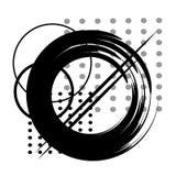 Het vector abstracte grafische zwarte werk stock afbeelding