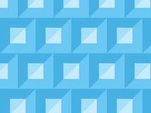 Het vector abstracte lichtblauwe vierkanten en patroon van de driehoekstegel vector illustratie
