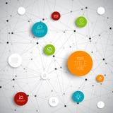 Het vector abstracte malplaatje van het cirkels infographic netwerk Stock Afbeelding