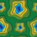 Het vector abstracte naadloze patroon van Brazilië Vector Illustratie