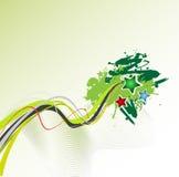 Het vector abstracte ontwerp van Grunge Royalty-vrije Stock Afbeeldingen