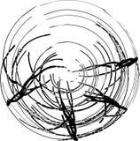 Het vector abstracte zwart-witte cijfer Stock Afbeeldingen