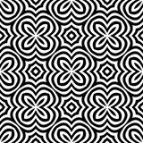 Het vector Abstracte Zwart-witte naadloze ontwerp van de optische illusiekunst stock illustratie