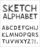 Het vector Alfabet van de Schets Royalty-vrije Stock Afbeelding