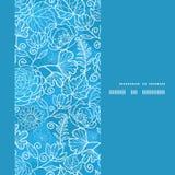 Het vector blauwe verticale kader van de gebieds bloementextuur Royalty-vrije Stock Afbeelding