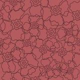 Het vector bloemen naadloze patroon van de lijnkunst stock illustratie