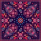 Het vector bloemen vierkante ontwerp van Paisley royalty-vrije illustratie