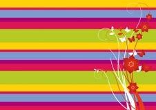 Het vector bloemenornament van de zomer. Stock Afbeeldingen