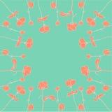 Het vector cirkelornament van nam in schetsstijl toe royalty-vrije illustratie