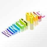 Het vector 3d concept van de de winterverkoop Stock Foto