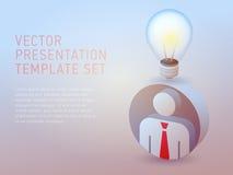 Het vector 3d malplaatje van de bedrijfsthemapresentatie Stock Afbeelding
