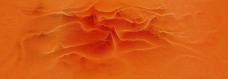 Het vector 3d spectrum van echo audiowavefrom Van de de schommelingsgrafiek van muziekgolven de futuristische visualisatie Oranje stock illustratie