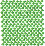 Het vector editable patroon van het achtergrond groene bladpictogram Stock Foto's