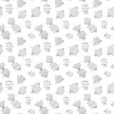 Het vector eindeloze naadloze patroon van de met inkt besmeurde zwarte babykrabbels overhandigt getrokken op witte achtergrond in Royalty-vrije Stock Foto's
