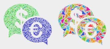 Het vector Financiële Pictogram van het Praatjemozaïek van Driehoeken royalty-vrije illustratie