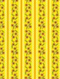 Het vector Gele Patroon van het Behang Eps10 met Sinaasappel Royalty-vrije Stock Afbeelding